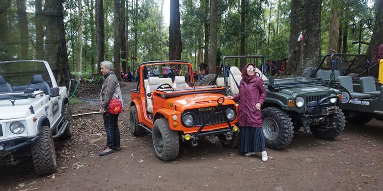 Lawu Tour Jeep Adventure di Mojosemi Forest Park, Kabupaten Magetan, Jawa Timur, Rabu (23/1/2019).
