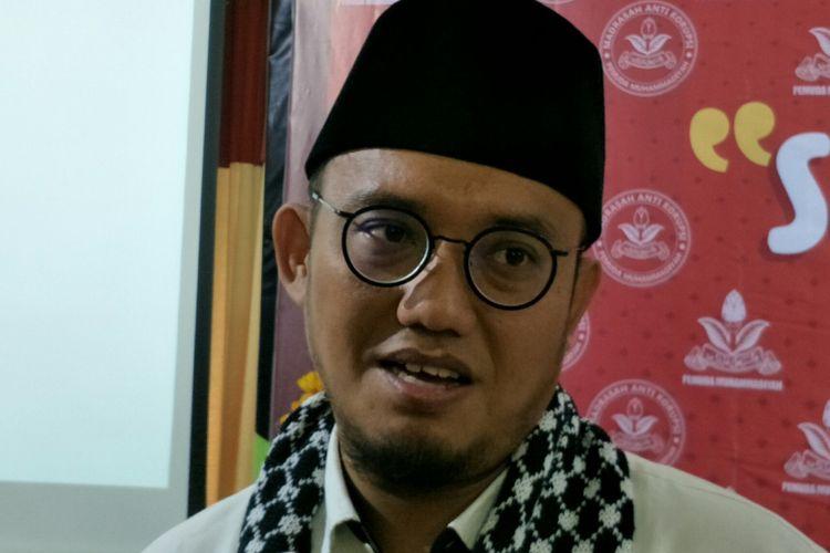 Ketua PP Pemuda Muhammadiyah Dahnil AnzarSimanjuntak di Gedung Pusat Dakwah Muhammadiyah, Menteng, Jakarta, Rabu (27/12/2017).