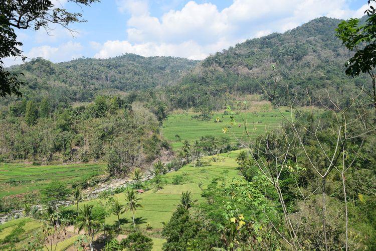 Pemandangan di Puncak Kleco, Kulon Progo