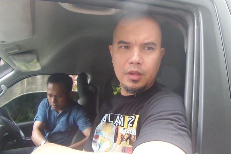 Ahmad Dhani datang ke Bareskrim Mabes Polri, Jakara Pusat, Kamis (31/8/2017).