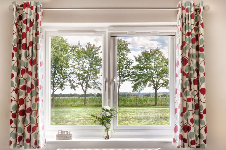 Ilustrasi jendela rumah.