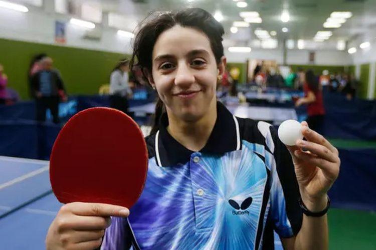 Petenis meja asal Suriah, Hend Zaza, yang masih berusia 12 tahun menjadi atlet termuda di Olimpiade Tokyo 2020.