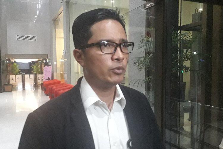 Juru Bicara KPK Febri Diansyah di Gedung Merah Putih KPK, Selasa (12/11/2019).