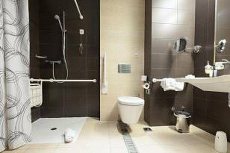 ILUSTRASI - Kamar mandi di hotel yang ramah terhadap kaum difabel