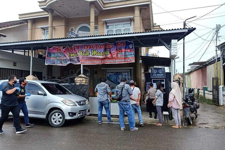 Lokasi pembegalan seorang wanita yang hendak berobat di pengobatan alternatif di Jalan KH Azhari, Kecamatan Seberang Ulu I, Palembang, Kamis (4/6/2020).
