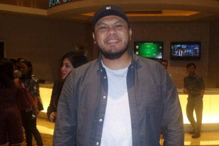 Joko Anward diabadikan di sela menghadiri gala premier film Interchange di XXI Epicentrum Walk, Jakarta Selatan, Kamis (23/2/2017).