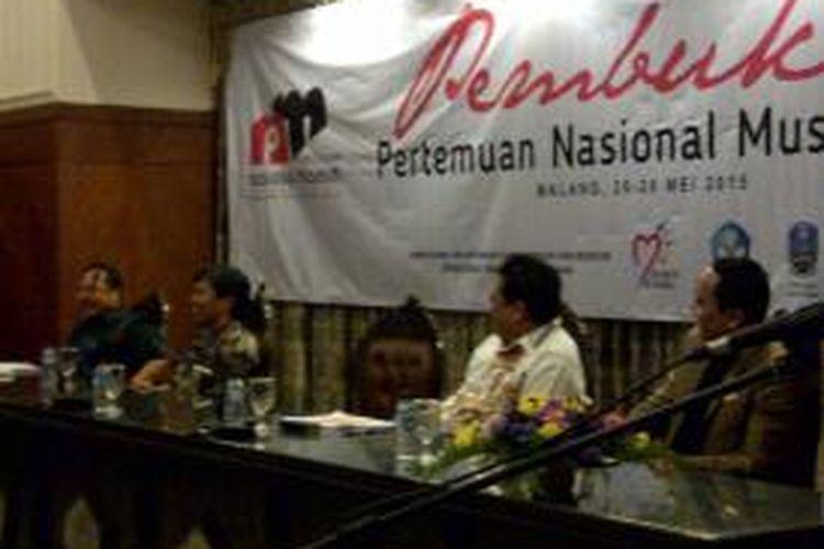 Suasana pembukaan acara Pertemuan Nasional Museun se-Indonesia 2015 di Kota Malang, Jawa Timur, Selasa (26/5/2015).