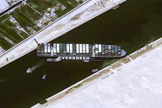 Kemacetan Terusan Suez Picu Lonjakan Polusi, Tampak dari Luar Angkasa