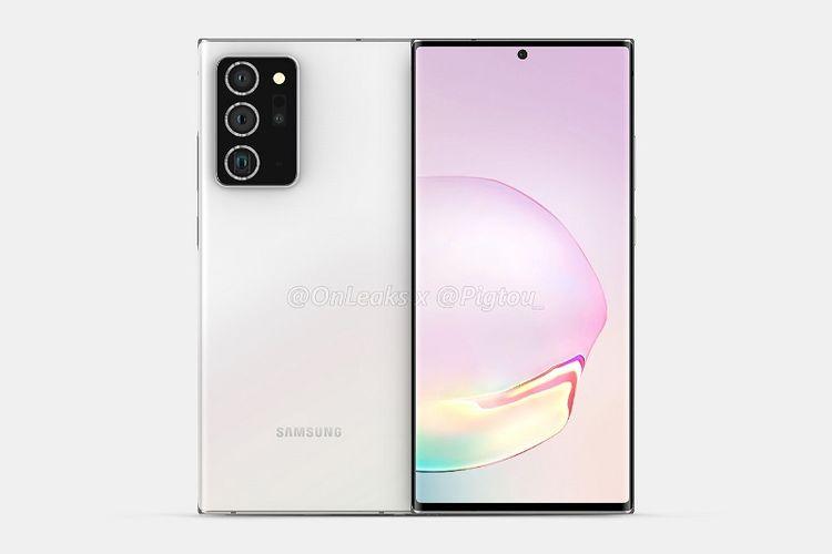 Bocoran desain Galaxy Note 20.