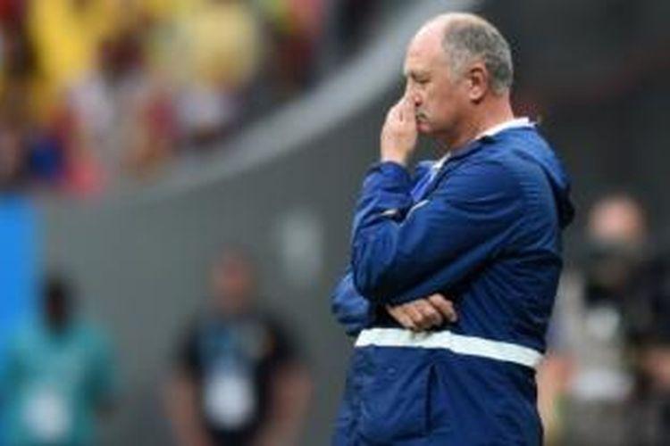 Mantan pelatih tim nasional Brasil, Luiz Felipe Scolari.