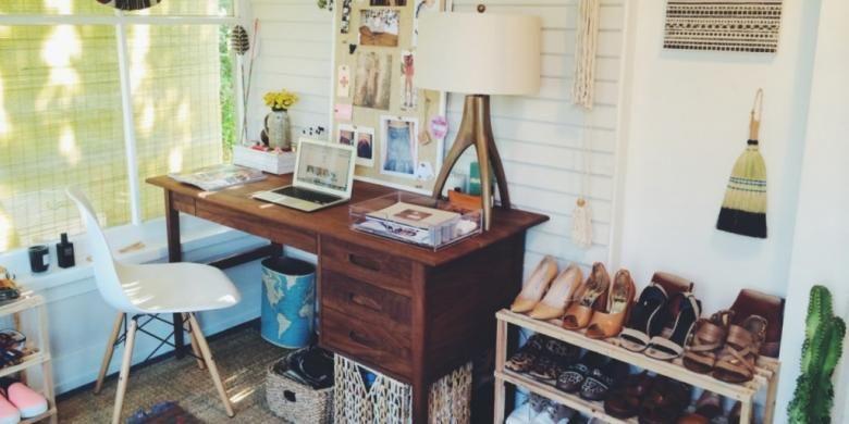 Ilustrasi sudut ruangan yang paling sering digunakan di dalam rumah.