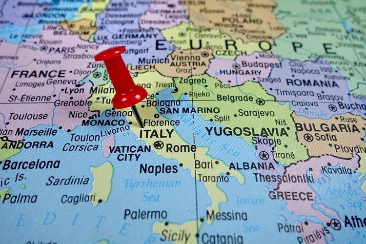Peta penyebaran virus corona di Italia