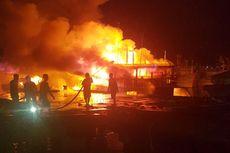 Tiga Kapal Ikan Terbakar di Pelabuhan Benoa Bali