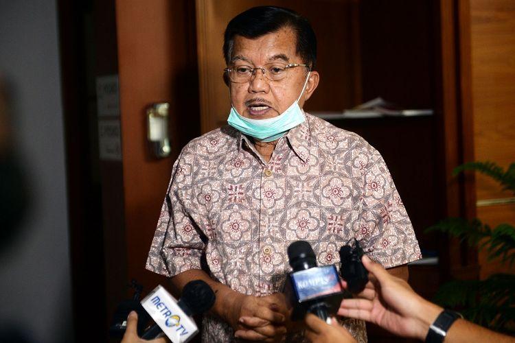 Ketua DMI Jusuf Kalla saat diwawancara media, Selasa (2/6/2020).