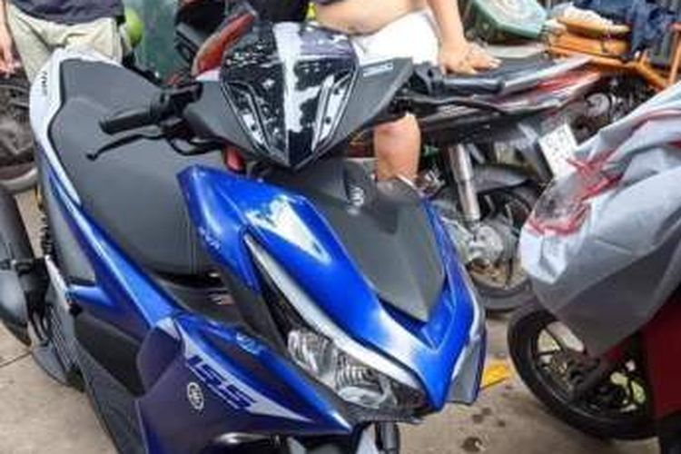 Foto yang diduga generasi baru Yamaha Aerox 155