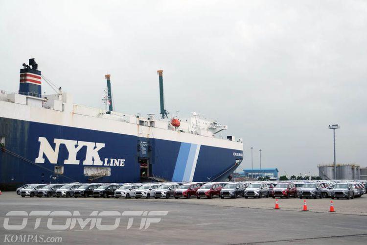Ekspor perdana Mitsubishi Xpander, Kamis (25/4/2018), dilakukan ke Filipina.