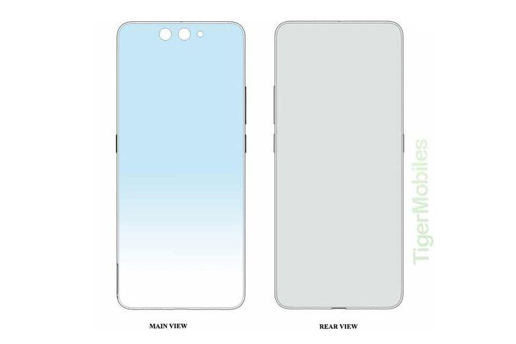 Paten ponsel lipat Xiaomi dengan desain clamshell