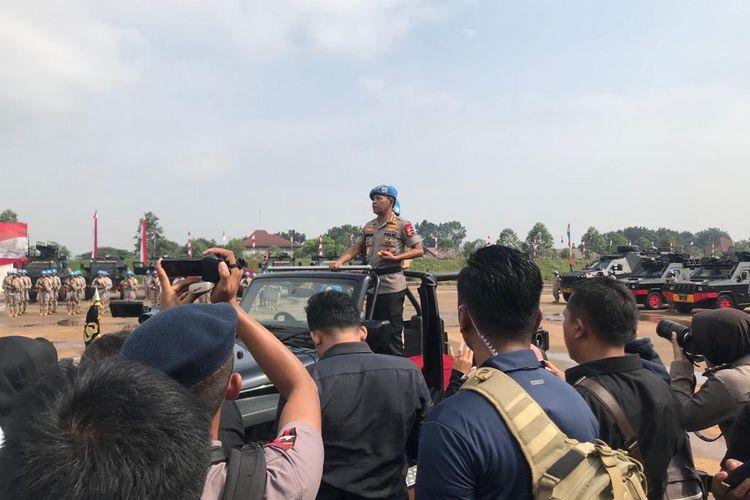 Kapolri Jenderal (Pol) Idham Azis di Pusat Latihan Brimob, Cikeas, Bogor, Kamis (12/3/2020).