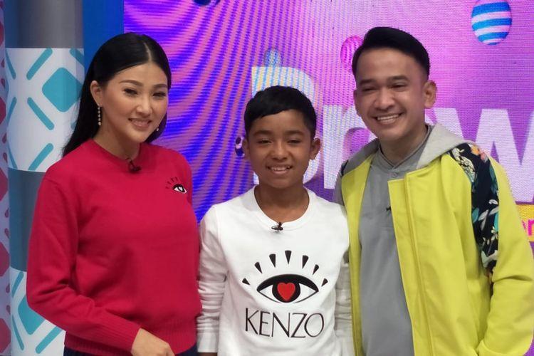 Ruben Onsu, Sarwendah dan Betrand Peto dalam acara Brownies di Gedung Trans TV, Tendean, Jakarta Selatan, Senin (7/9/2019).