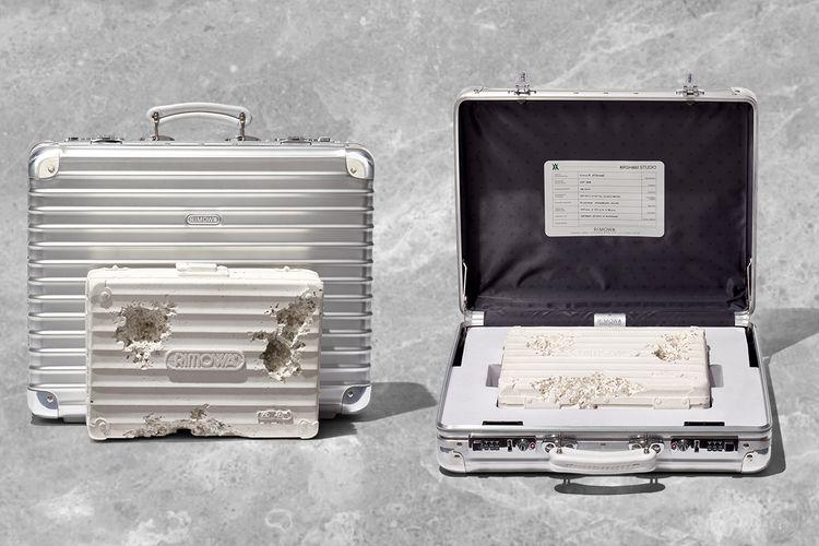 Koper Rimowa dan karya seni pahatan yang mengambil ide dari koper tersebut