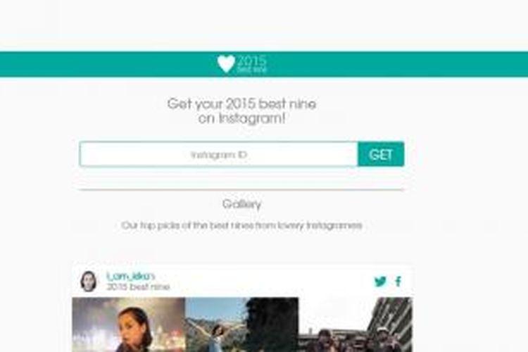 Situs ini perlihatkan momen terbaik di Instagram