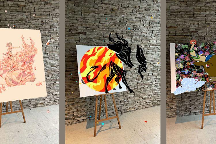Instalasi seni yang dipamerkan dalam perayaan Hari Raya Imlek 2021 yang dilakukan secara drive-thru dalam Moo Moo Park di Singapura (dok. https://singaporeccc.org.sg/).