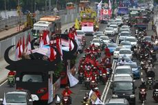Ini Rekayasa Lalu Lintas Saat Deklarasi Kampanye Damai Pemilu dan Parade Momo Asian Para Games