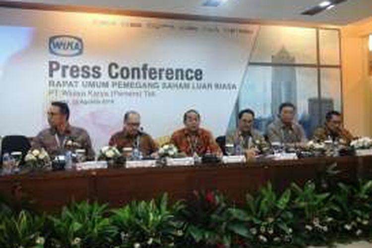 Rapat Umum Pemegang Saham Luar Biasa (RUPSLB) PT Wijaya Karya (Persero) Tbk (WIKA) di Jakarta, Senin (22/8/2016).