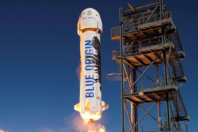Ilustrasi roket Blue Origin.