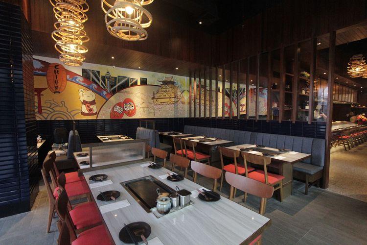 Suasana restoran CHIBO yang terletak di Lantai Dasar, Gandaria City Mal