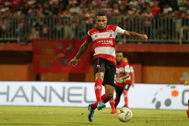 Beto Goncalves saat masih bermain untuk klub Madura United FC di Liga 1.