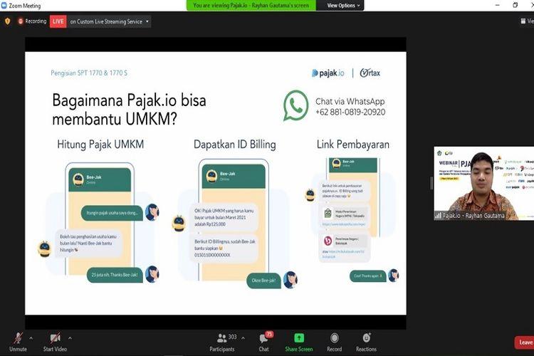 Bee-Jak merupakan layanan terbaru dari Pajak.io yang berguna untuk mempermudah para pelaku UMKM dalam mengurus pajak.