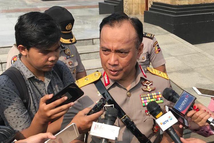 Kepala Biro Penerangan Masyarakat (Karo Penmas) Divisi Humas Polri Brigjen Dedi Prasetyo saat ditemui di Taman Makam Pahlawan Kalibata, Jakarta Selatan, Kamis (4/7/2019).
