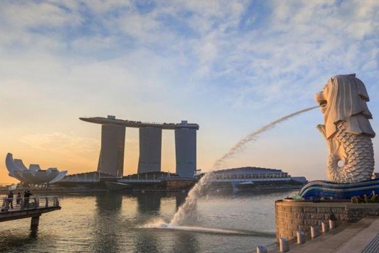 Patung Merlion di Singapura