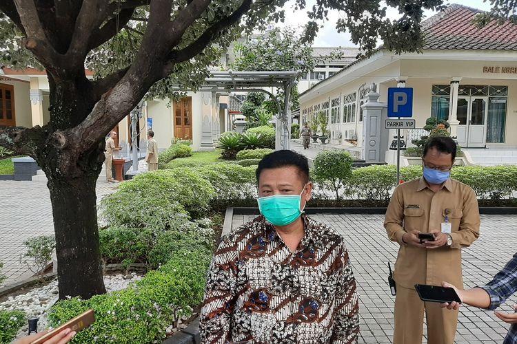 Sekda DIY Kadarmanta Baskara Aji, di kompleks Kepatihan, Senin (30/02/2020).