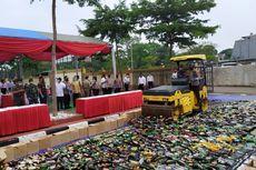 4.000 Botol Miras dan 250 Knalpot Bising Dimusnahkan Polres Tangsel
