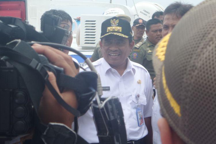 Plt Gubernur DKI Jakarta Sumarsono saat mendatangi Muserenbang Kepulauan Seribu, Rabu (22/3/2017)