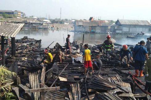 Kebakaran Terjadi di Medan Belawan, 10 Rumah Ludes Terbakar