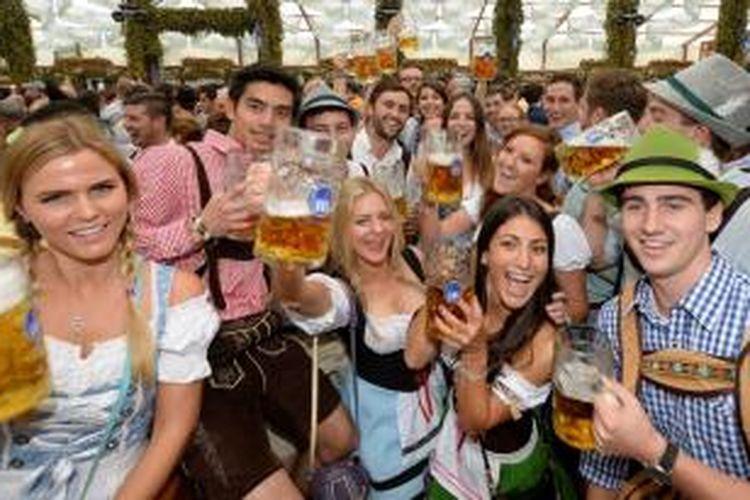 Festival tahunan Oktoberfest di Muenchen, Jerman.