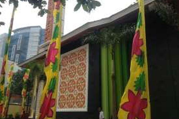 Masjid Nuurur Rahmaan di kompleks Kementerian Agraria dan Tata Ruang atau Badan Pertanahan Nasional (ATR/BPN) di Jakarta.