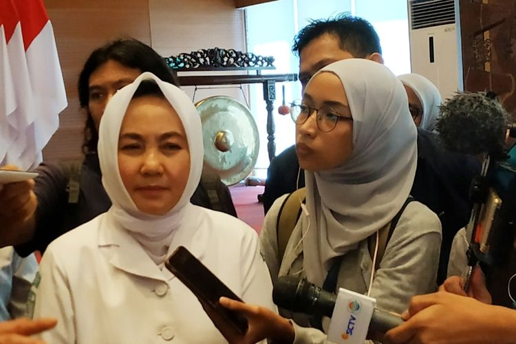 Kepala BMKG, Dwikorita Karnawati di Gedung BNPB, Jakarta Timur, Senin (30/12/2019).