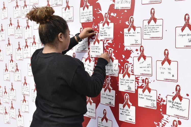 Kampanye pencegahan HIV/AIDS.