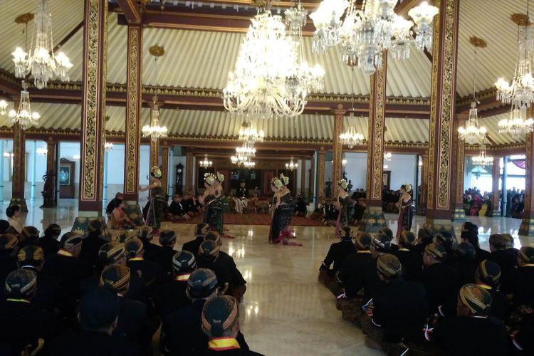Suasana Keraton Surakarta, Jawa Tengah saat acara jumenengan pada bulan April 2017 lalu.