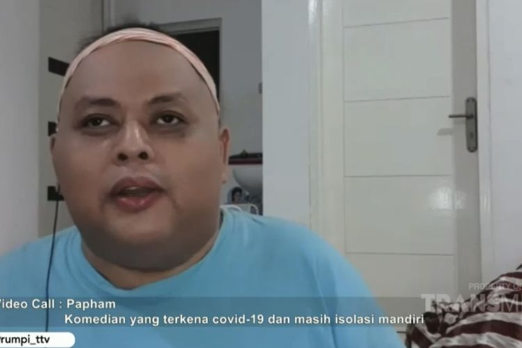 Papham yang tenagh menjalani perawatan di rumah. (Bidikan layar YouTube Trans TV Officia).