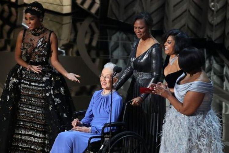 Katherine Johnson saat film Hidden Figures masuk dalam nominasi Oscar.