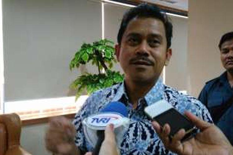 Plt Ketua Dewan Jaminan Sosial Nasional Andi Zainal Abidin Dulung di BPJS Ketenagakerjaan, Salemba Jakarta, Rabu (7/9/2016).