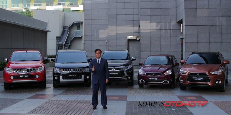 CEO Mitsubishi Motors Corporation Osamu Masuko, di Jakarta, Rabu (10/8/2016).