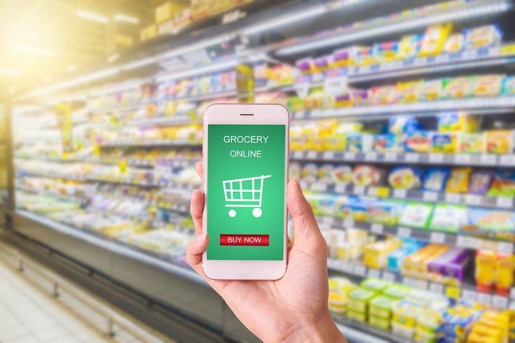 Ilustrasi berbelanja kebutuhan rumah tangga secara online (Dok. SHUTTERSTOCK/NON C)