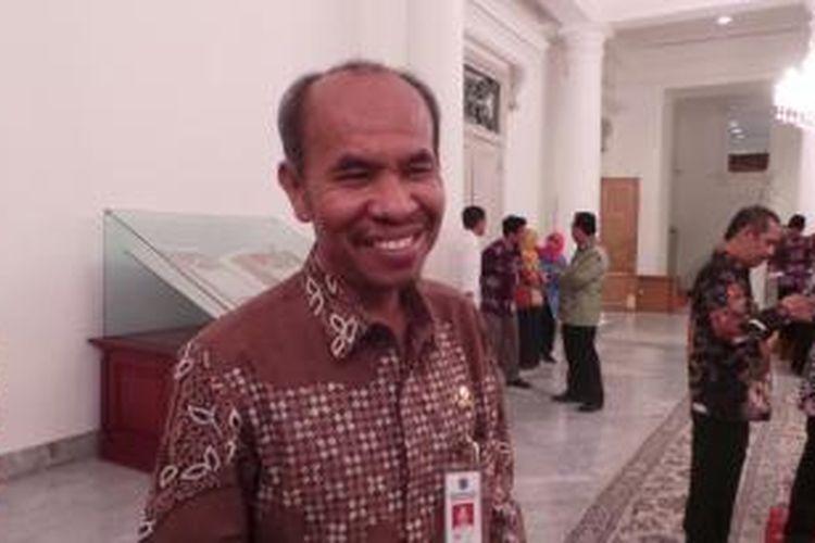 Kepala Dinas Pendidikan DKI Jakarta Lasro Marbun, di Balaikota Jakarta, Kamis (7/8/2014).