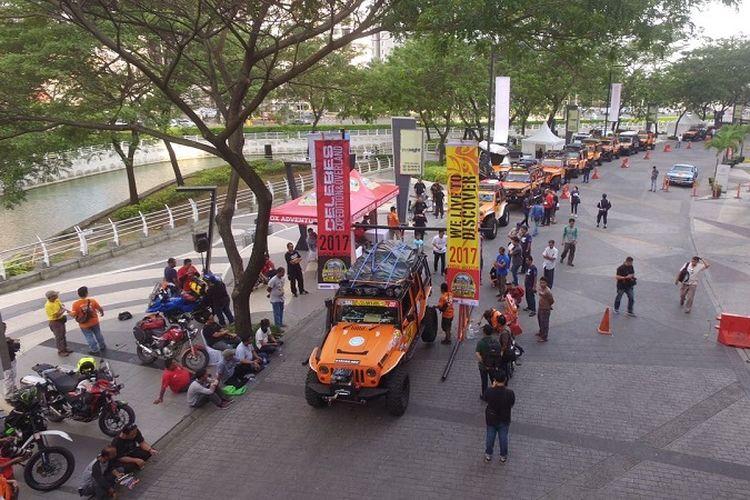 Sebanyak 40 kendaraan offroad milik peserta menjalani pemeriksaan menjelang ajang IOX 2017 Celebes di Sulawesi.